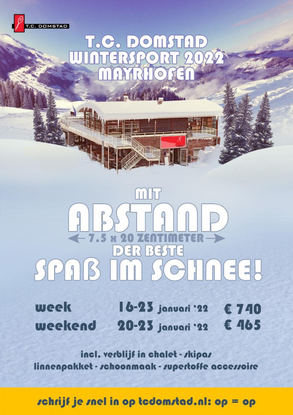 Flyer T.C. Domstad Wintersport 2022 Mayrhofen