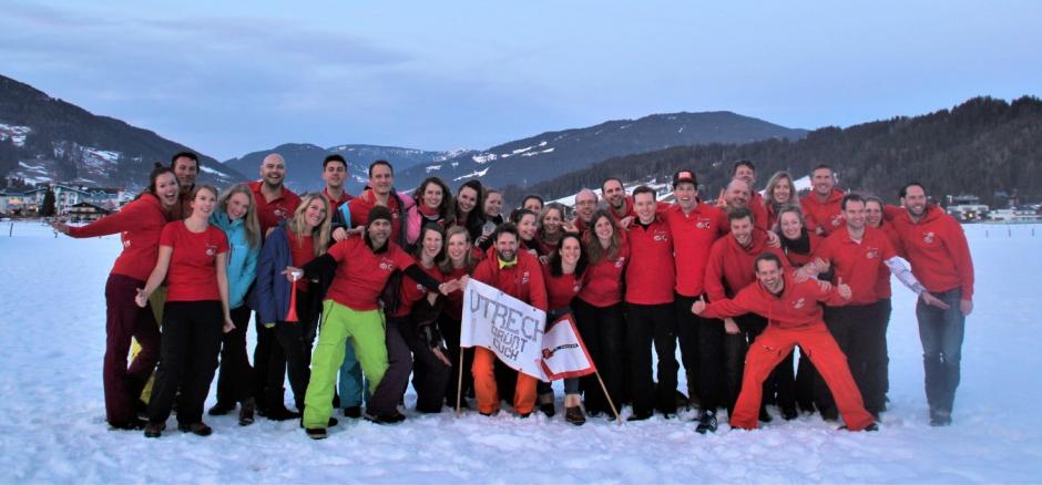 Wintersport T.C. Domstad 2020 groepsfoto